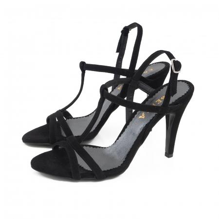 Sandale din piele intoarsa neagra1