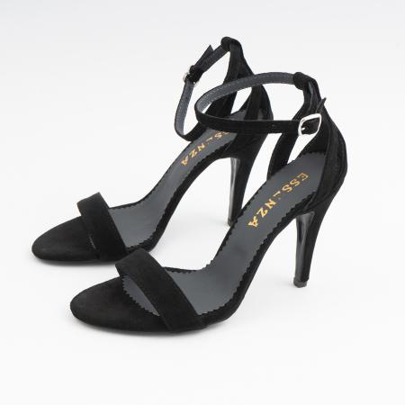 Sandale din piele intoarsa neagra, cu toc stiletto1