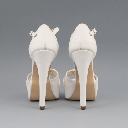 Sandale din piele naturala, alb unt3
