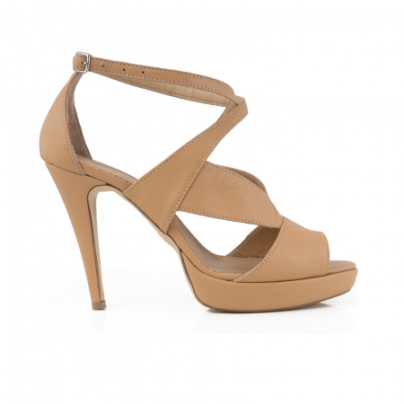 Sandale din piele naturala beige [0]
