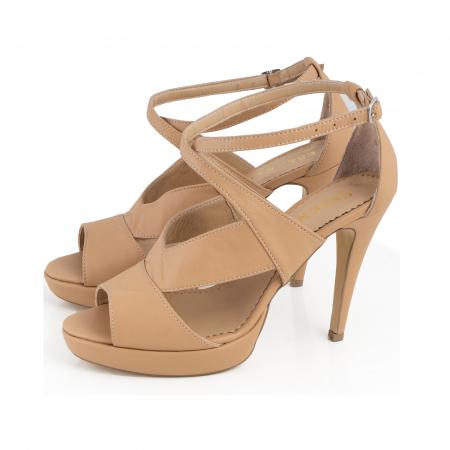 Sandale din piele naturala beige [1]