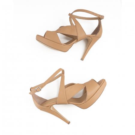 Sandale din piele naturala beige [2]