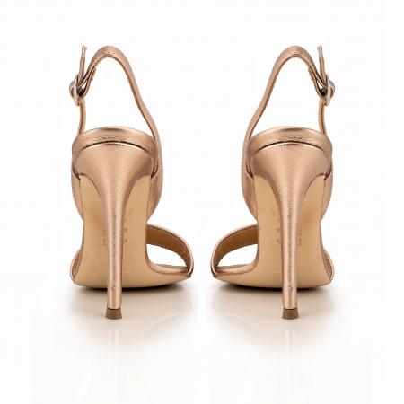 Sandale din piele naturala metalizata rose si visinie4
