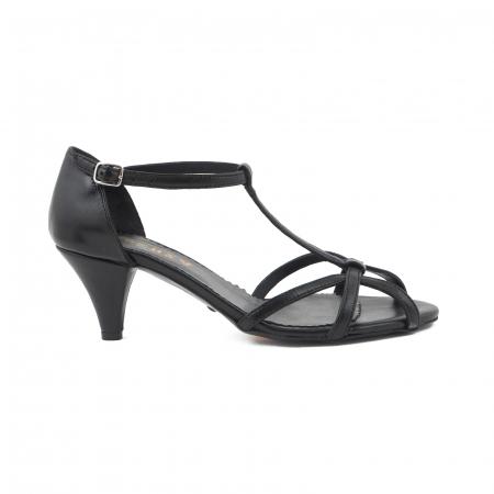 Sandale din piele naturala neagra0