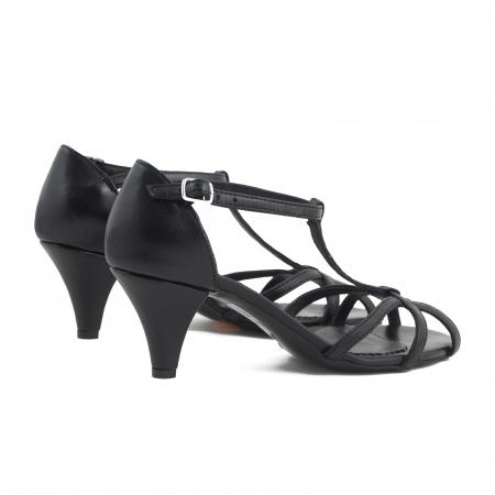 Sandale din piele naturala neagra3