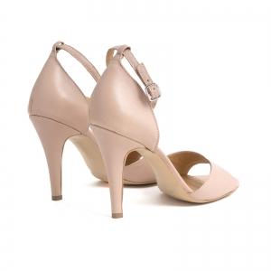 Sandale din piele naturala nude roze, cu toc stiletto2