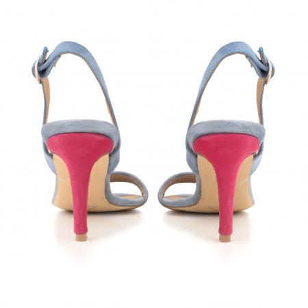 Sandale elegante din piele intoarsa albastru deschis, piele nabuc roz ciclam si piele cu animal print tip leopard3