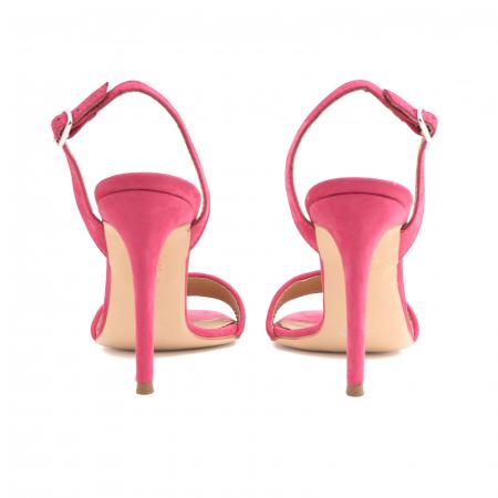 Sandale elegante din piele nabuc roz intens si animal print4