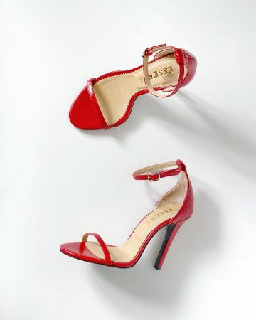 Sandale elegante, din piele naturala rosie [3]