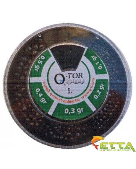 Q-tor Set plumbi diferite dimensiuni nr. I. alice taiate rotunde mici 0,1-0,5g 1