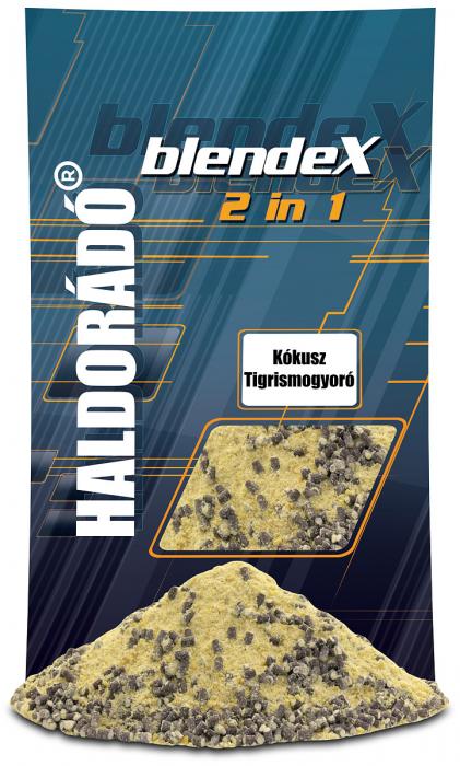 Haldorado BlendeX 2 in 1 - Cocos + Alune tigrate 800g 0