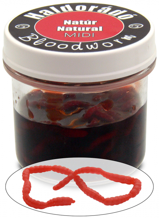 Haldorado Bloodworm (Larve de tantari artificiale) - Natur midi [0]