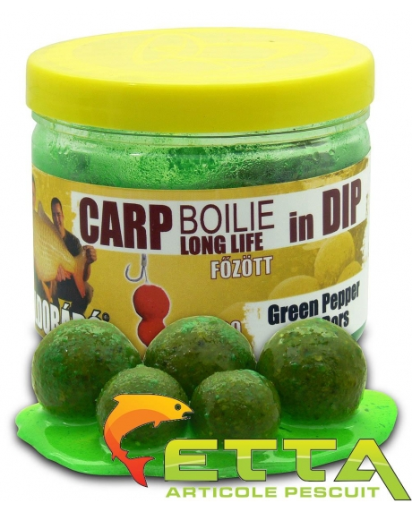 Haldorado Carp Boilie In Dip - Green Pepper - 100g/16-20mm 0