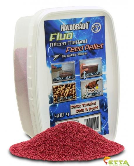 Haldorado Fluo Micro Method Feed Pellet - Brutal Liver - 400g 0