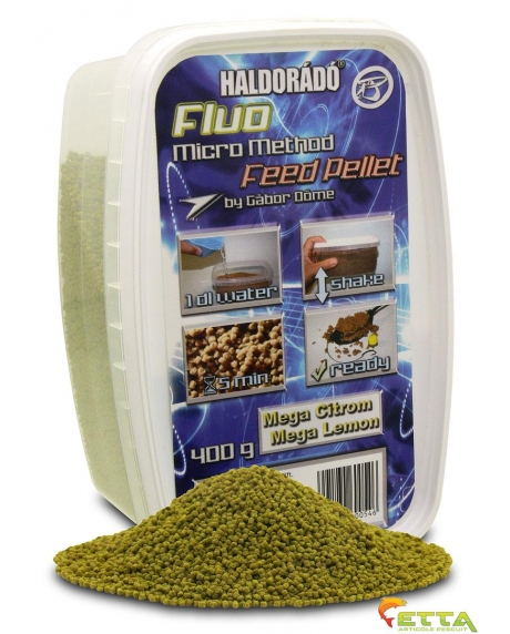 Haldorado Fluo Micro Method Feed Pellet - Mega Lemon 400g 0