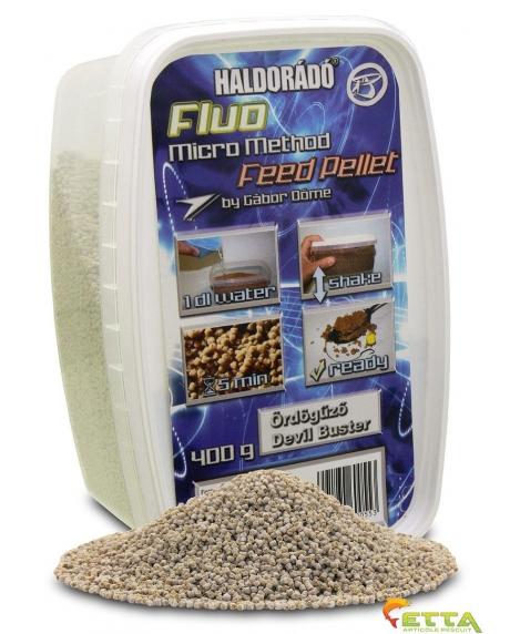 Haldorado Fluo Micro Method Feed Pellet - Brutal Liver - 400g 1