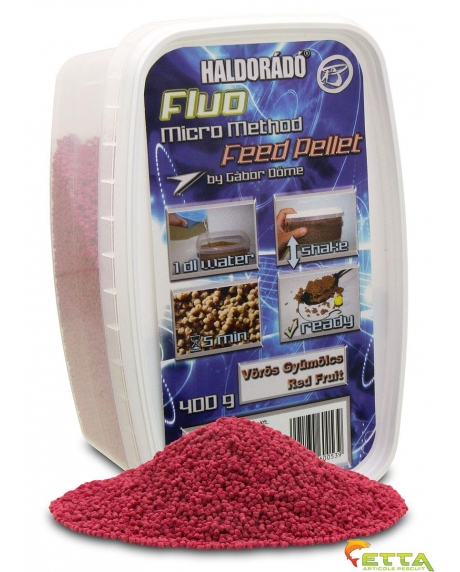 Haldorado Fluo Micro Method Feed Pellet - Brutal Liver - 400g 4