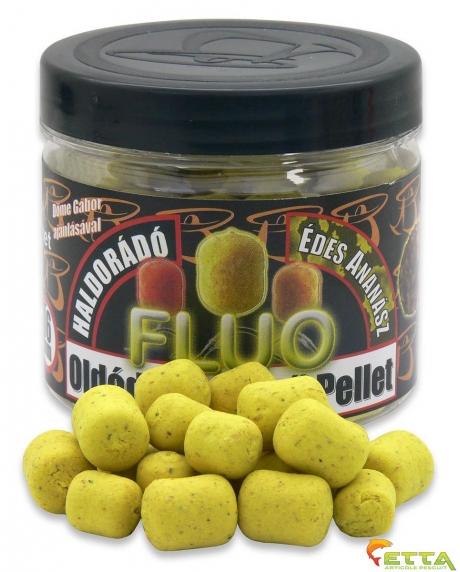 Haldorado Pelete Fluo Flotante Solubile - Ananas Dulce - 70g/12,16mm 0