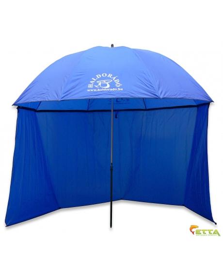 Haldorado Umbrela albastra cu laterale 250cm 0