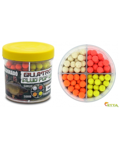 Haldorado Quatro Fluo Pop Up Boilies 8mm 50g 0
