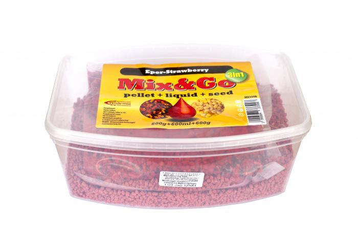 Timar Pelete MIX&GO Pellet Box 3 in 1 Capsuni (600g pelete + 600ml aroma + 600g seminte) 2