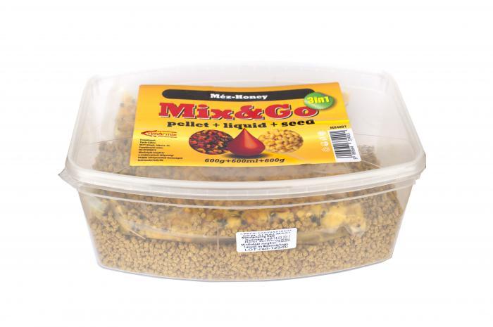 Timar Pelete MIX&GO Pellet Box 3 in 1 Capsuni (600g pelete + 600ml aroma + 600g seminte) 1