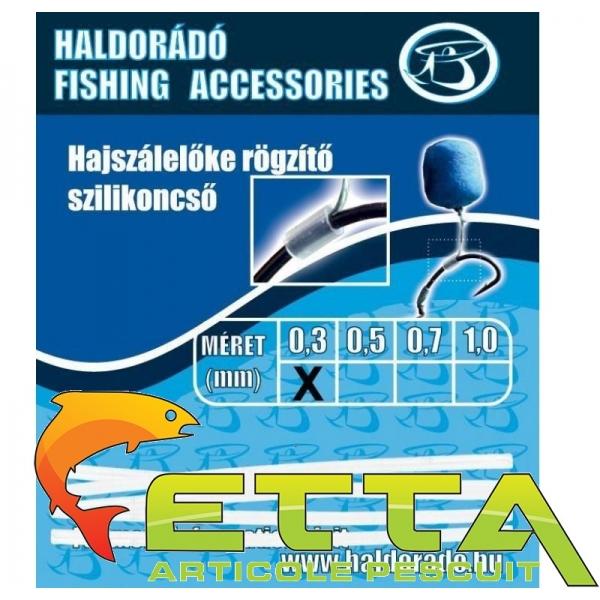 Haldorado Tub silicon fixare inaintas fir de par 0,3mm [0]