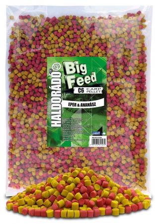 Haldorado Big Feed - C6 Pellet - Capsuna & Ananas 2.5kg, 6 mm0