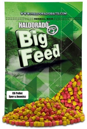 Haldorado Big Feed - C6 Pellet - Capsuna & Ananas 0.9kg, 6 mm3