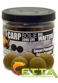 Haldorado Carp Boilie Big Wafters - Sweet Pineapple - 70g/24mm3
