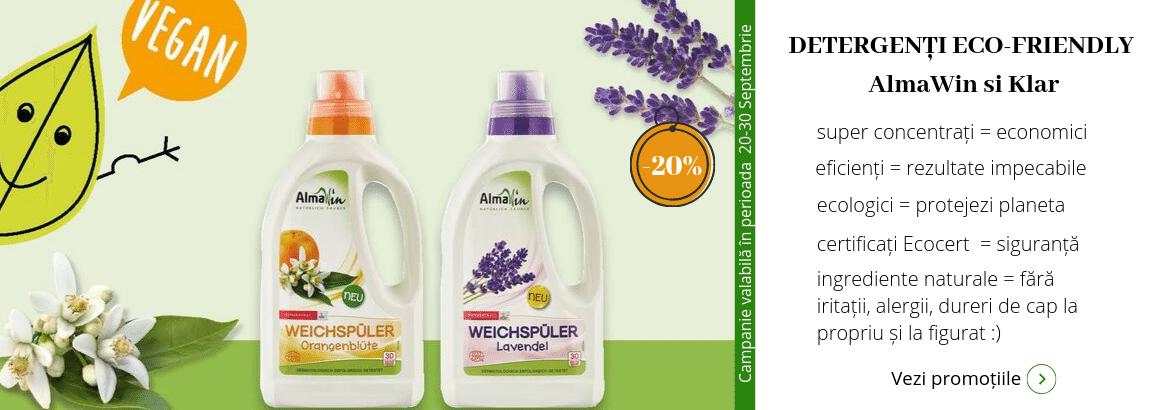- 20% Detergenti ecologici AlmaWin si Klar
