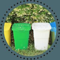 Bicarbonatul de sodiu dezodorizeaza containerele cu materiale reciclabile
