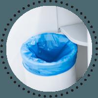 Bicarbonatul de sodiu dezodorizeaza cosul de gunoi