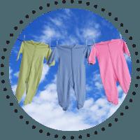 Bicarbonat de sodiu pentru hainele bebelusilor