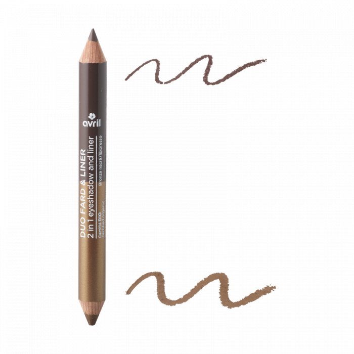 2 in 1 creion de ochi și fard de pleoape Expresso & Bronz sidefat | Avril [0]