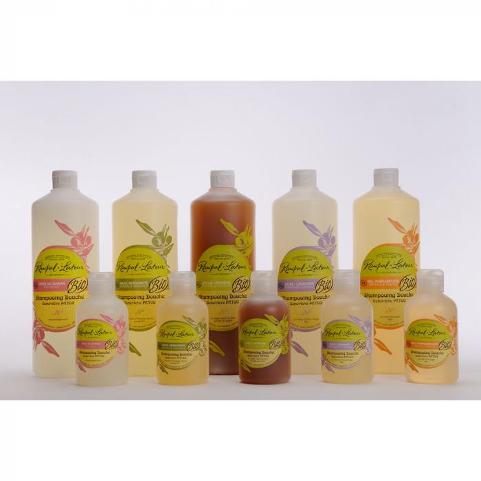 2 în 1 Șampon & gel de duș bio, Măsline și Lavandă | Rampal Latour, 250ml 2