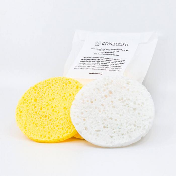 2 x Burete de celuloză pentru curățarea tenului, I Love Eco 0