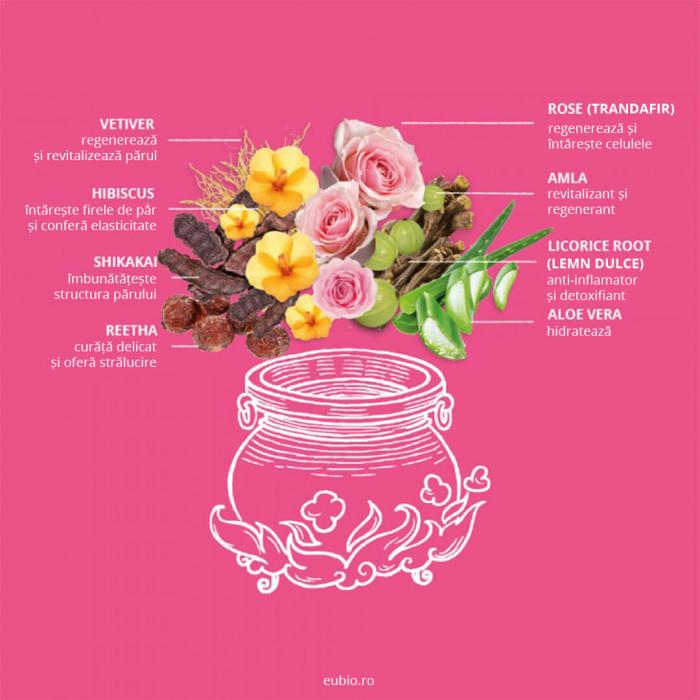Sampon elixir par uscat si deteriorat, Rose Repair, Khadi 4