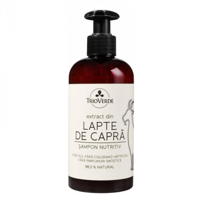 Șampon nutritiv cu extract de lapte de capră | Trio Verde, 250ml [0]