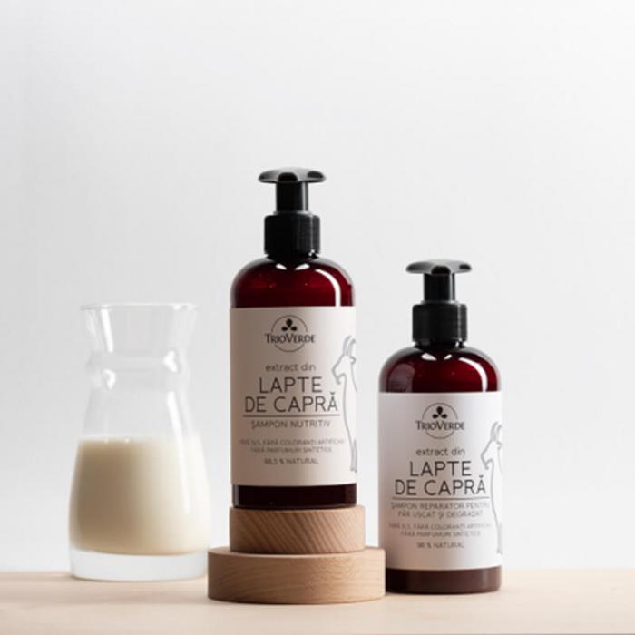 Șampon nutritiv cu extract de lapte de capră | Trio Verde, 250ml [1]