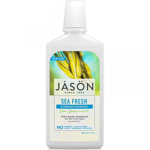 Apa de gura Sea Fresh pt detoxifierea si intarirea dintilor, Jason, 473ml 0