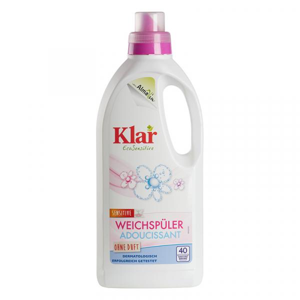 Balsam ecologic pentru rufe, fara parfum, Klar EcoSensitive, 1000ml 0