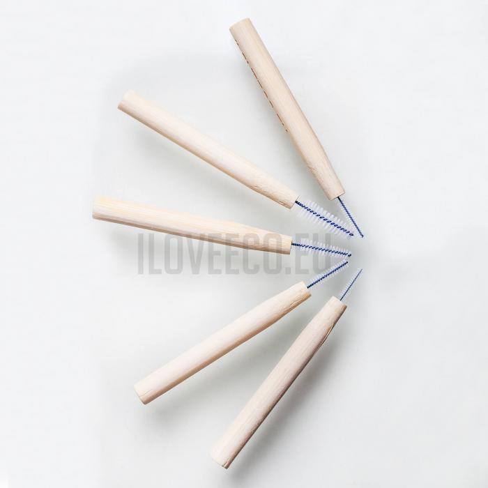 Periuțe interdentare din bambus, cutie cu 5 buc, 0.8 mm, I Love Eco 7