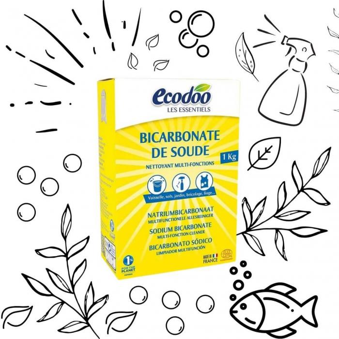 Bicarbonat de sodiu pentru menaj | Ecodoo, 1kg 1