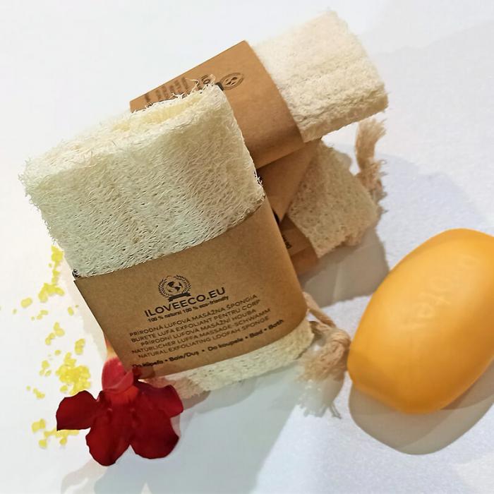 Burete lufa exfoliant pentru baie și masaj | Iloveeco 1