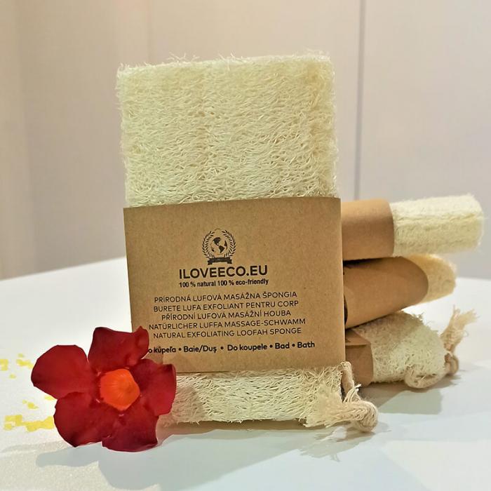 Burete lufa exfoliant pentru baie și masaj | Iloveeco 0