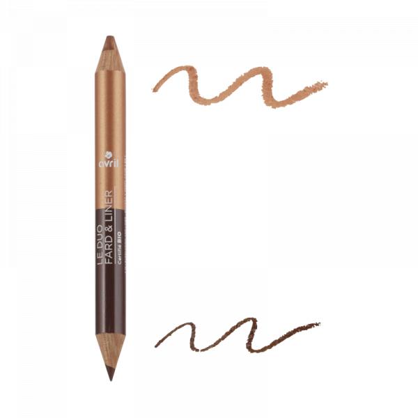 2 in 1 creion de ochi si fard de pleoape Terre Brulée/Cuivre Irisée, Avril 0