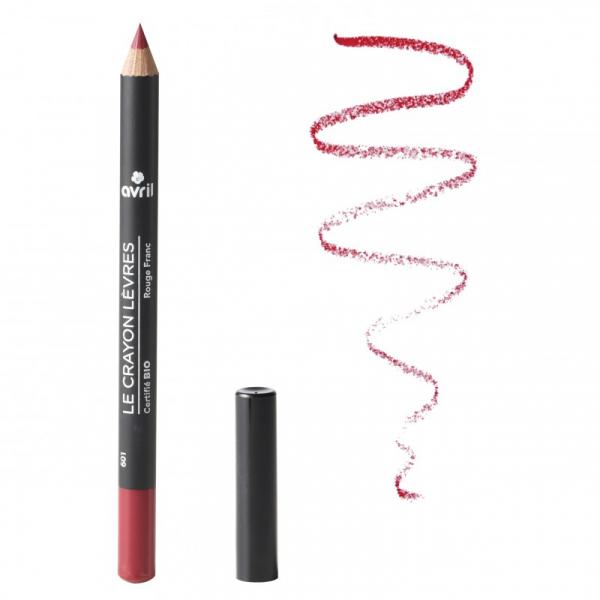 Creion contur pentru buze bio Rosu Pur - Pure Red, Avril 0