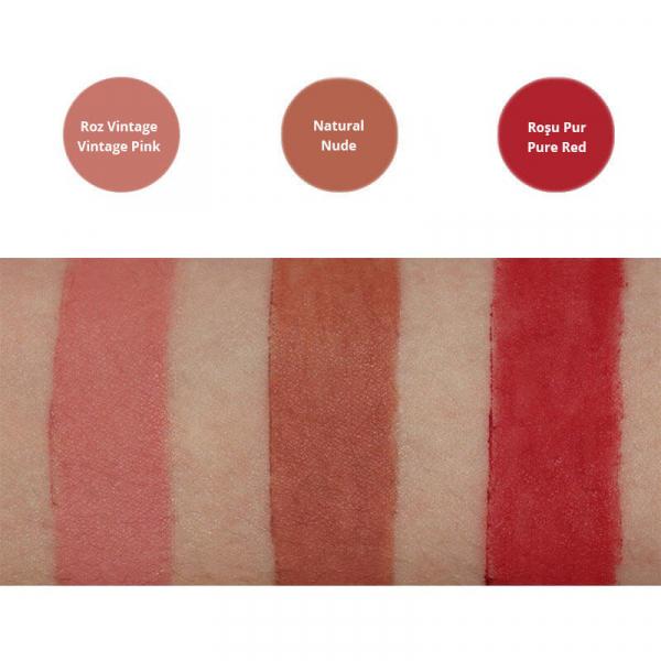 Creion contur pentru buze bio Rosu Pur - Pure Red, Avril 1