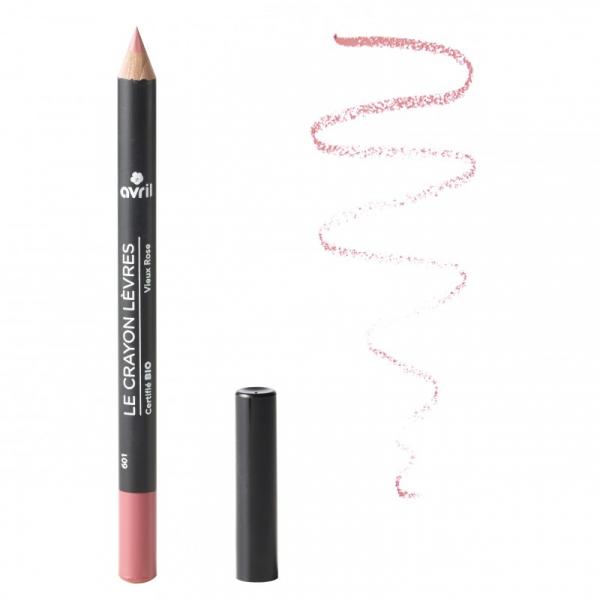 Creion contur pentru buze bio Vieux Rose, Avril 0